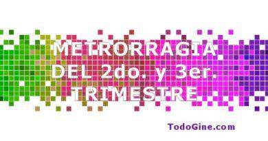 Metrorragia del 2º y 3er trimestre